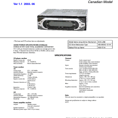 Sony Cdx L510x Wiring Diagram Blank Skeleton Front And Back Ver 1 Sm Service Manual Download Schematics 1st Page