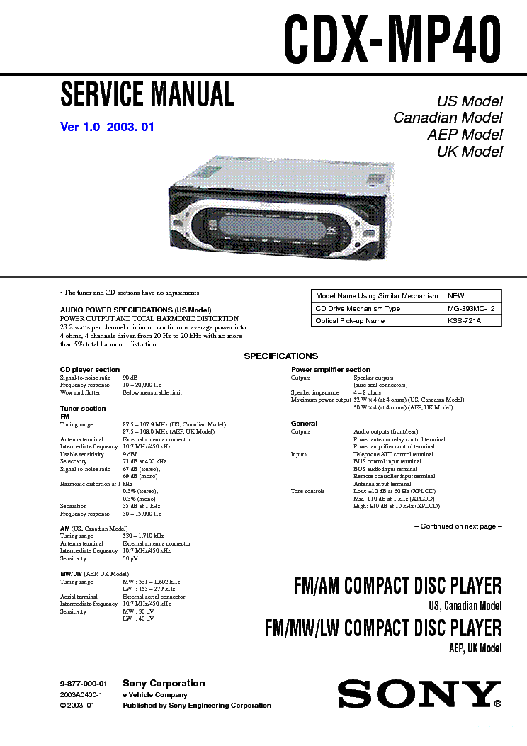 sony cdx l510x wiring diagram holden vz stereo mp40 schematic ver 1 0 sm service manual download schematics eeprom faceplate