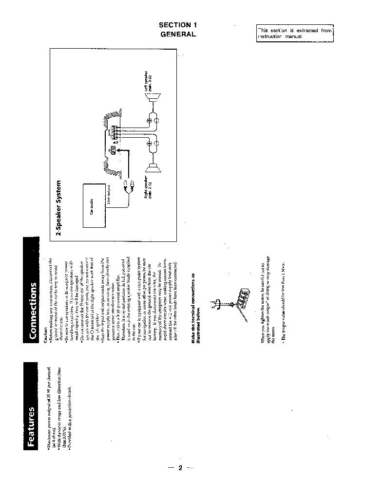 SONY XM-220 SM Service Manual download, schematics, eeprom