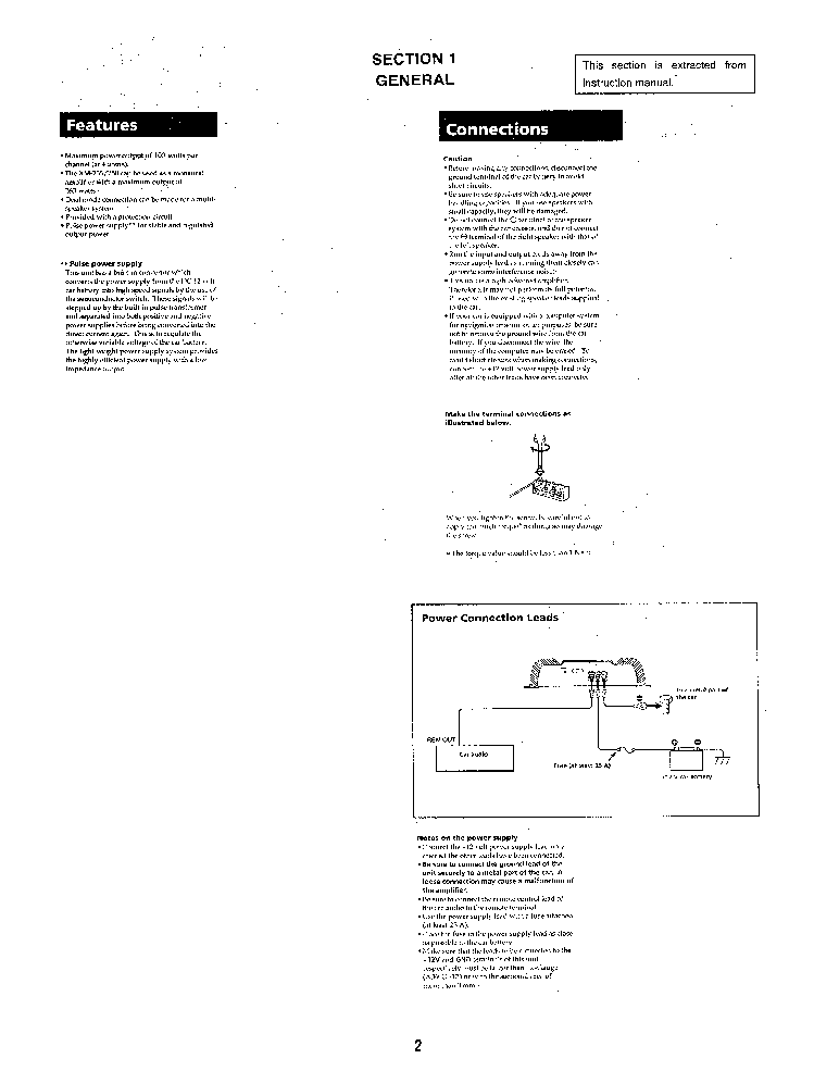 SONY XM-250 SM Service Manual download, schematics, eeprom