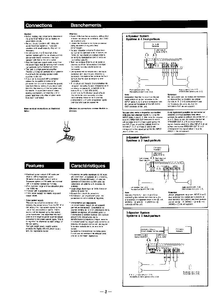 SONY XM-4040 SM Service Manual download, schematics