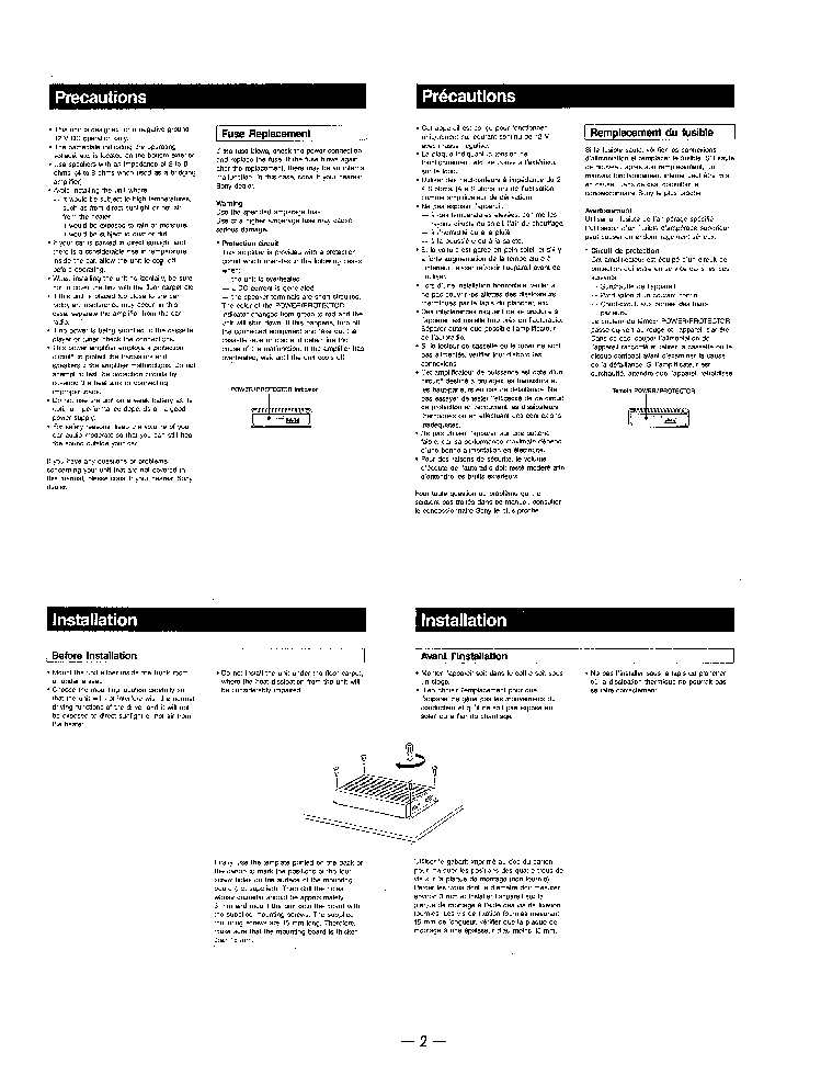 SONY XM-4520 SM Service Manual download, schematics