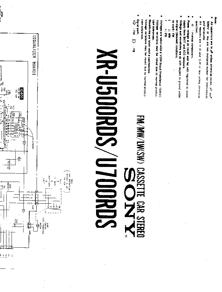 SONY XM-250X SM Service Manual free download, schematics