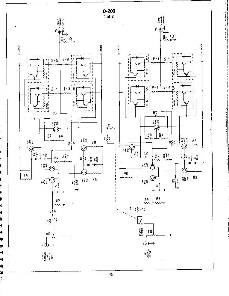 SOUNDSTREAM D200 SCH Service Manual download, schematics