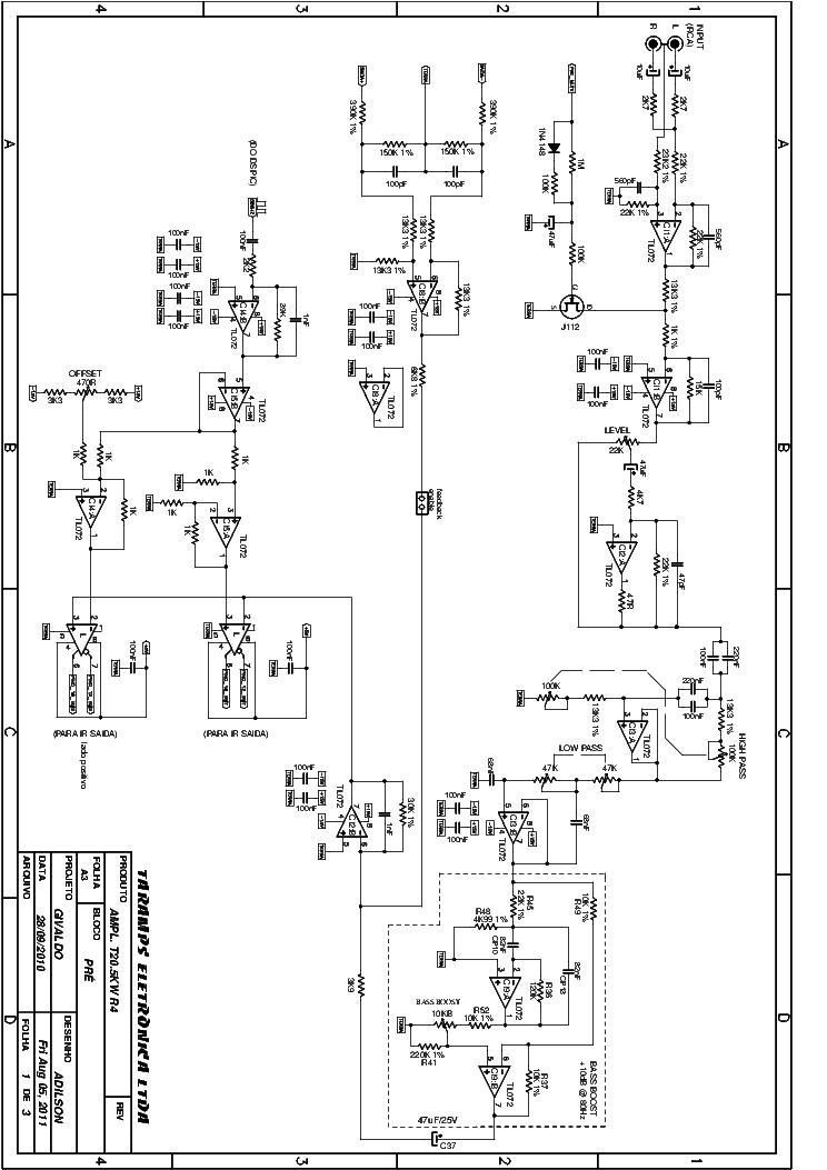 TARAMPS T3.5KW Service Manual download, schematics, eeprom