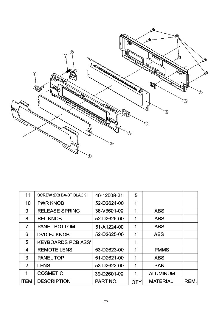 CLARION PU-2325A-B PEUGEOT-206 SERVICE-INFO Service Manual