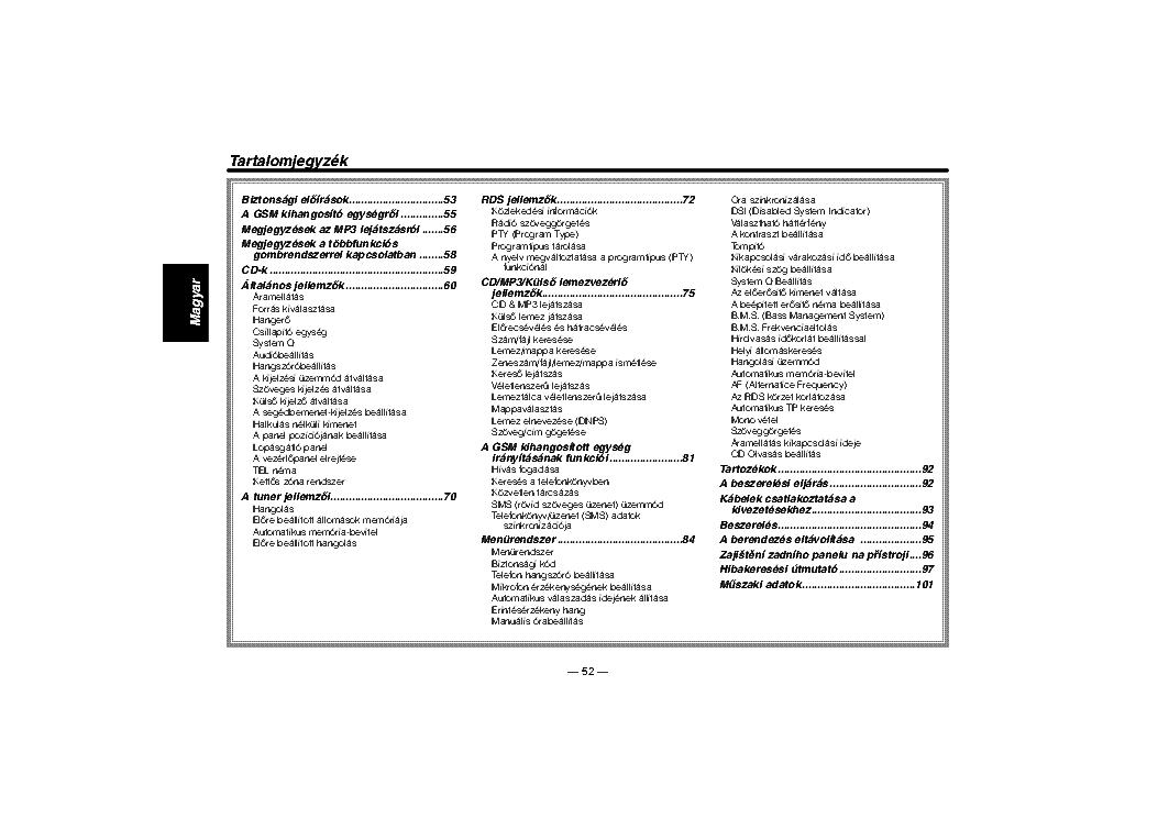 KENWOOD KDC-M7024 KDC-7024 HASZNALATI UTMUTATO Service