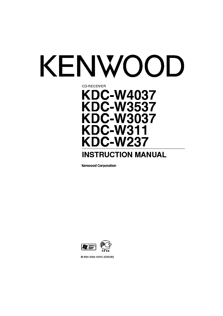 KENWOOD KDC-W3037 W3537 W4037 Service Manual download