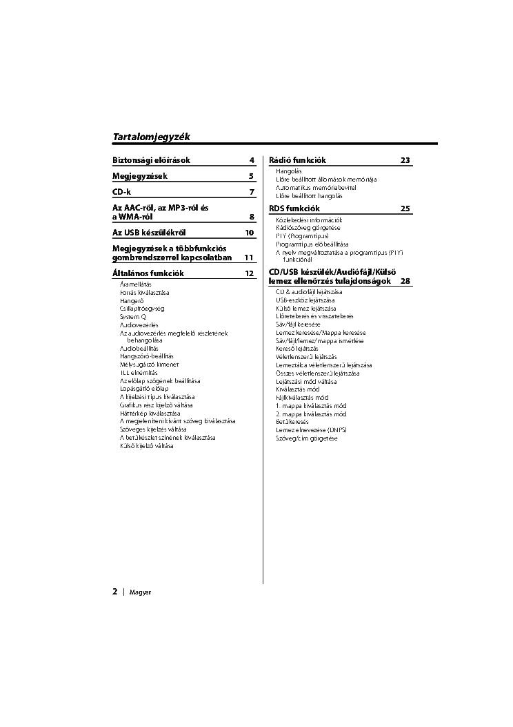 KENWOOD KDC-W7534U HASZNALATI UTMUTATO Service Manual