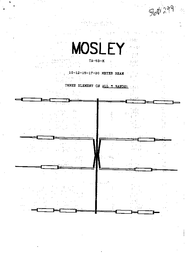 MOSLEY MOSLEY TA-53-M 10-12-15-17 AND 20 METER BEAM