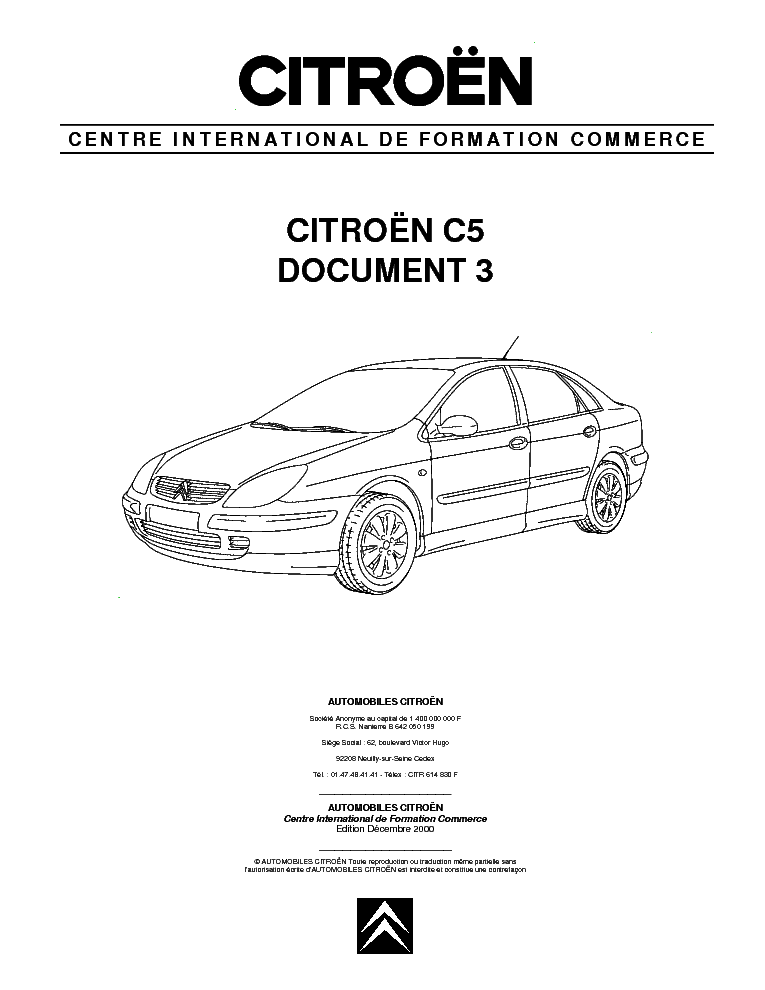 CITROEN C5 DOCUMENT 2 Service Manual download, schematics