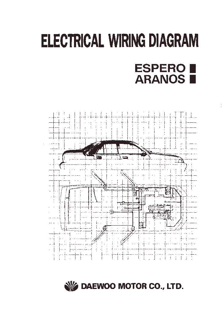 DAEWOO ESPERO ARANOS ELECTRICAL WIRING DIAGRAM Service Manual download, schematics, eeprom