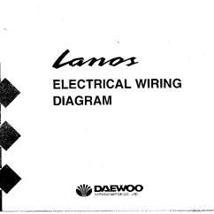 Daewoo Lanos Wiring Diagram 2002 Chevy Silverado Electrical Service Manual Download 1st Page