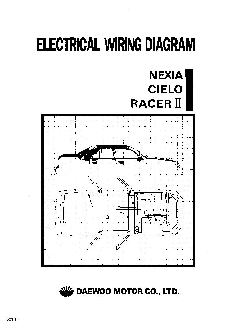 daewoo lanos wiring diagram chevy cobalt data nexia cielo racer ii electrical service manual ford diagrams