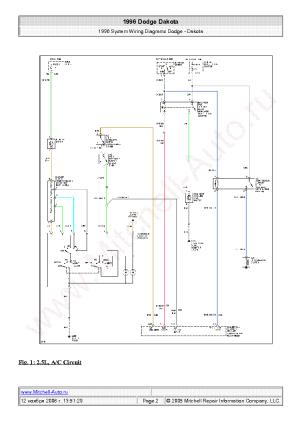 DODGE DAKOTA 1996 WIRING DIAGRAMS SCH Service Manual download, schematics, eeprom, repair info