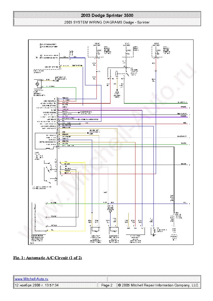 dodge sprinter engine wiring diagram
