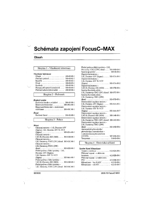 small resolution of ford focus c max 2003 full wiring diagram cz service manual 1st page