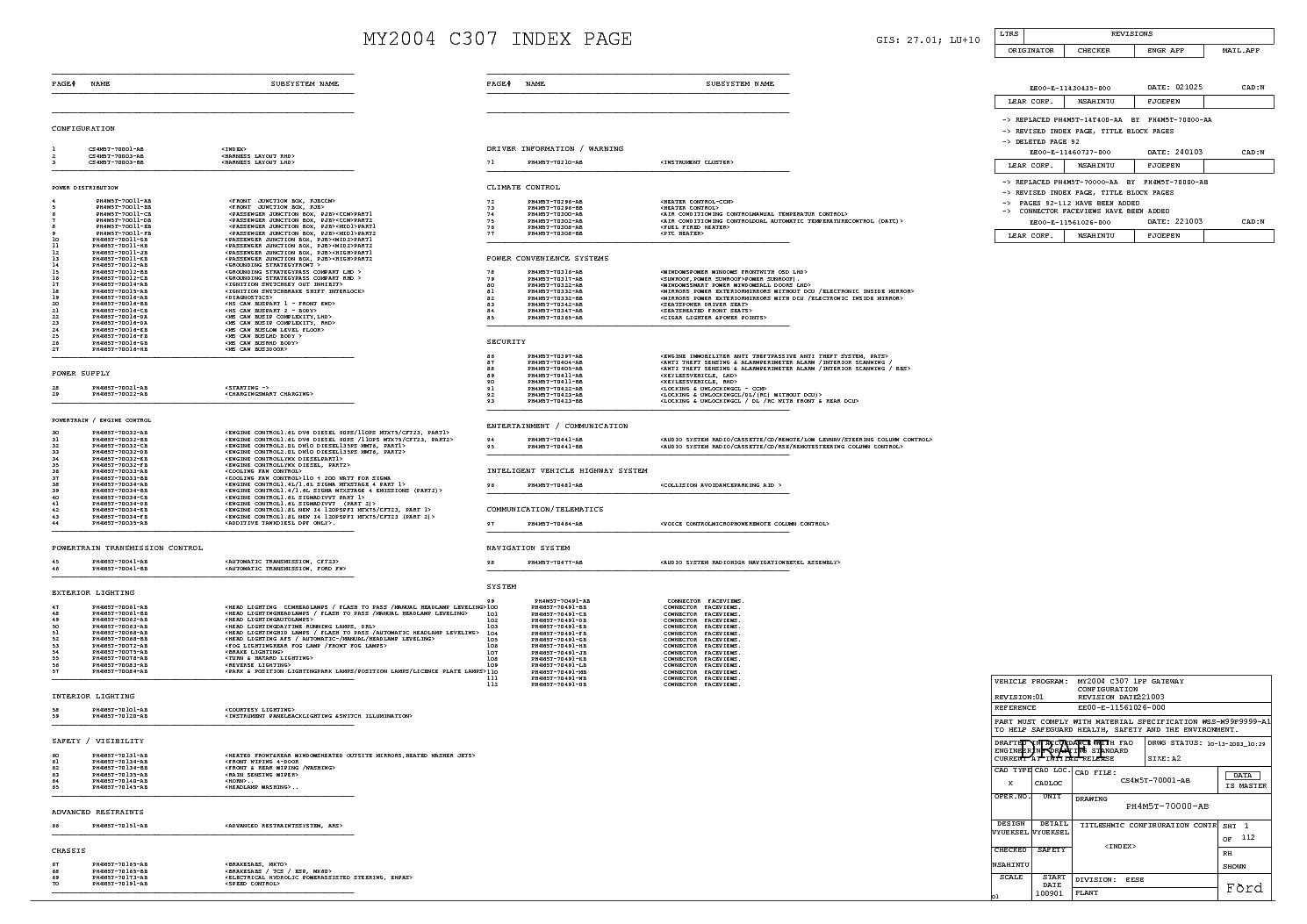 hight resolution of ford focus mk2 2004 full wiring diagram service manual 2nd page