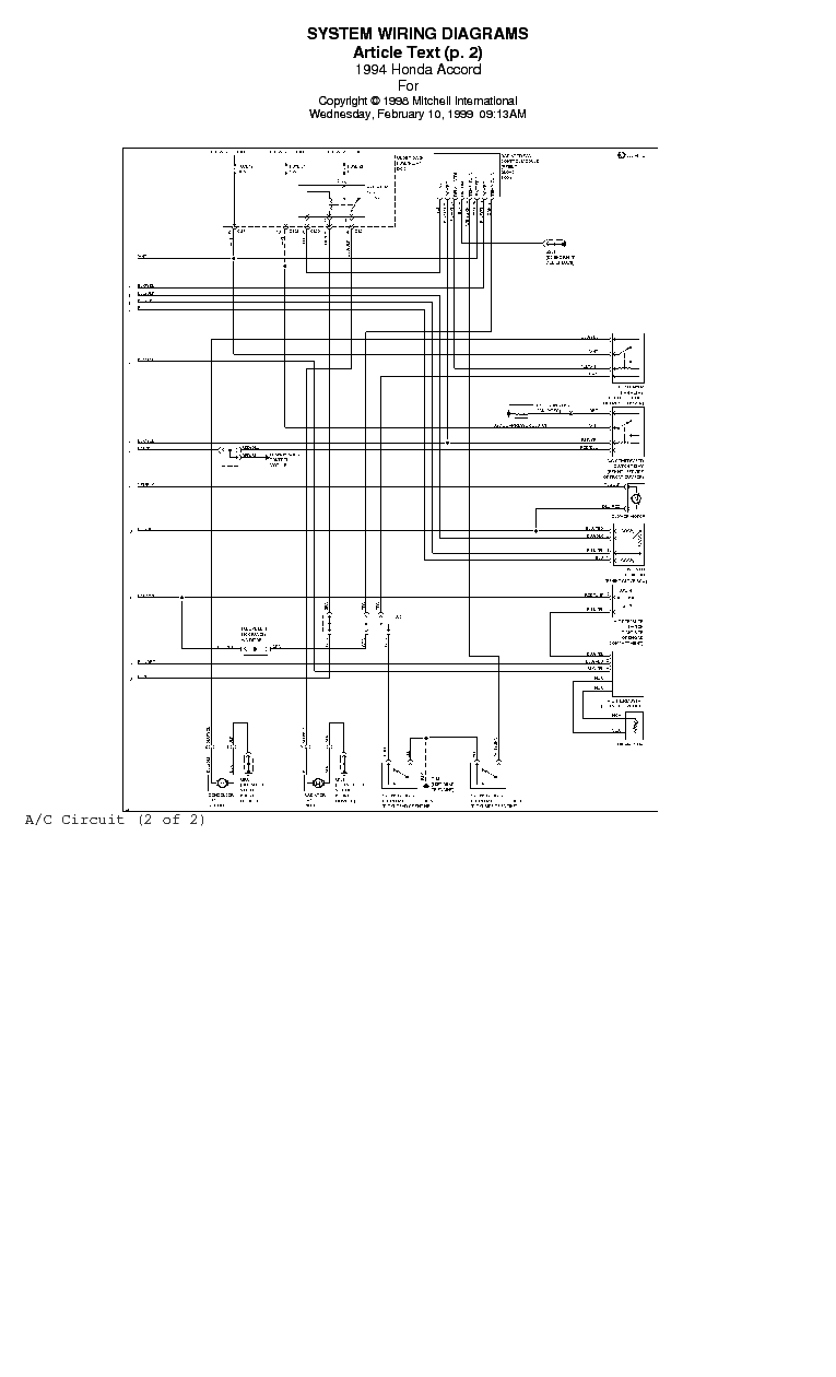 HONDA-ACCORD 1994-97 SYSTEM-WIRING-DIAGRAMS Service Manual