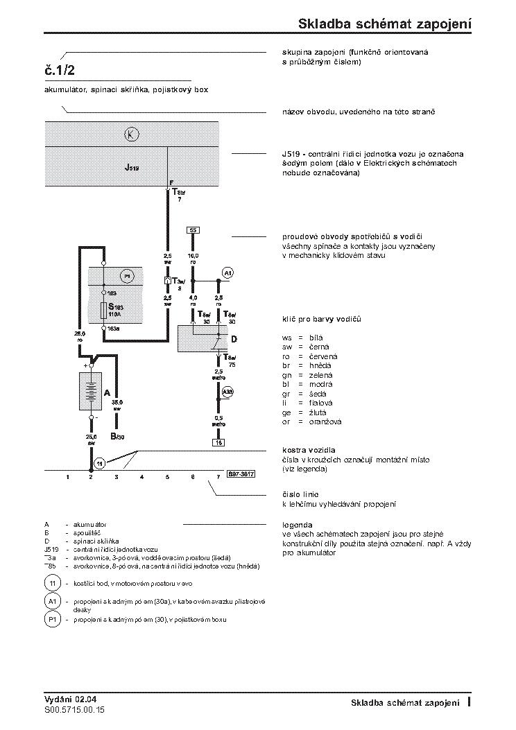 SKODA OCTAVIA II ELECTRIC WIRING DIAGRAM Service Manual Download