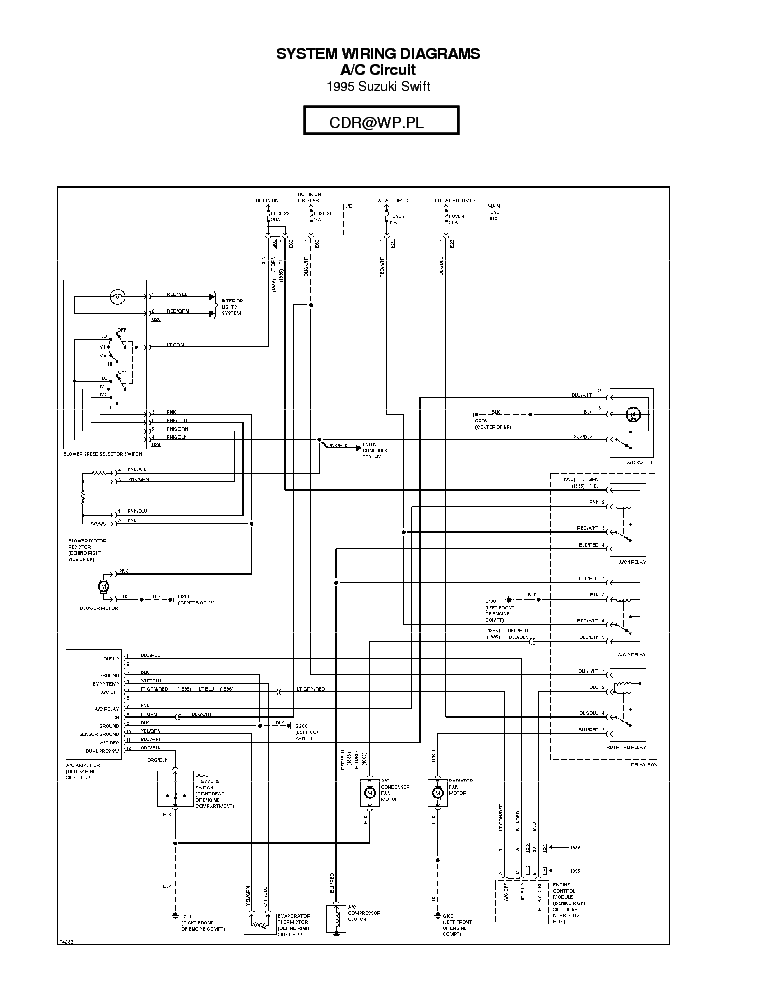 SUZUKI SIDEKICK WIRING DIAGRAM 95,96 SCH Service Manual