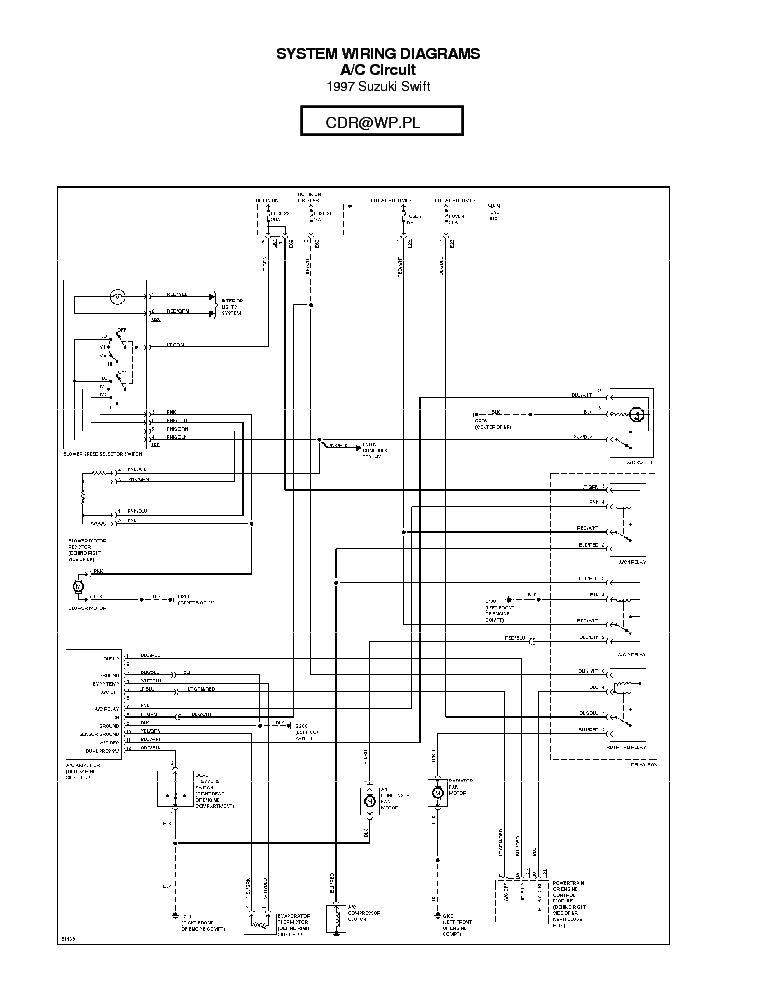 SUZUKI SWIFT 1997 SCH Service Manual download, schematics