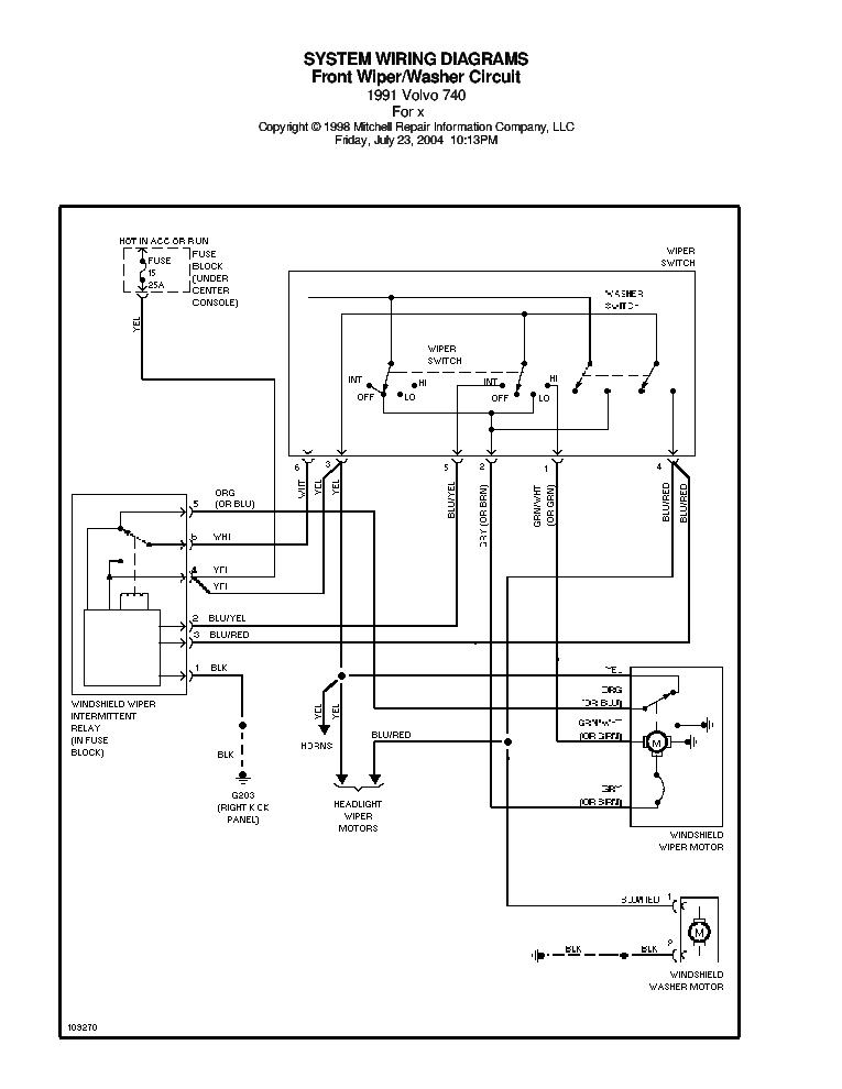 VOLVO 740 1991 SCH Service Manual download, schematics