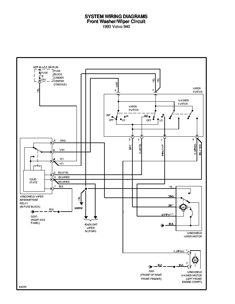 VOLVO 940 1993 SCH Service Manual download, schematics