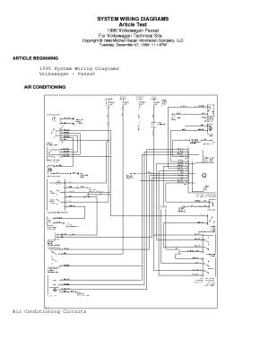 VW PASSAT 1995 WIRING DIAGRAM Service Manual download
