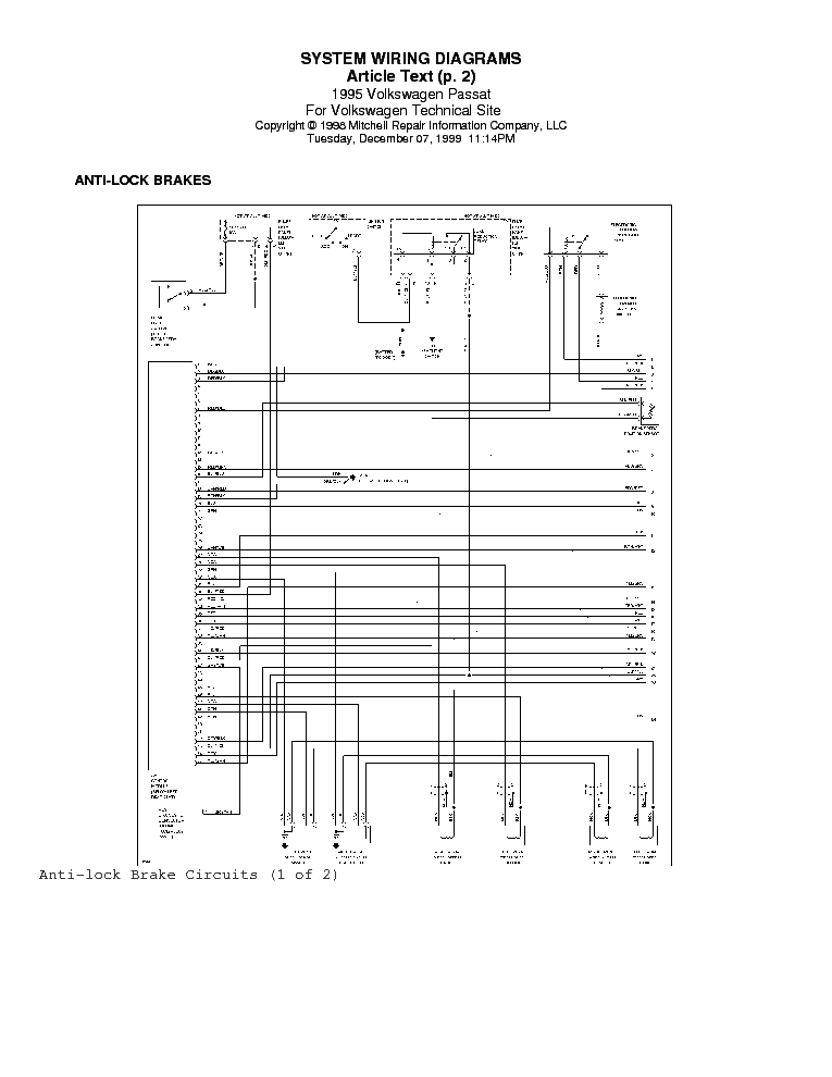 1995 Vw Golf Wiring Diagrams