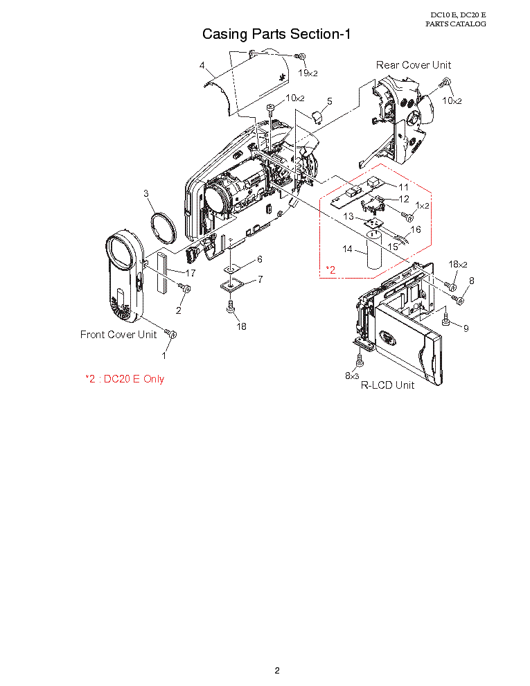 CANON DC10 DC20 MECHANISM PARTS Service Manual download