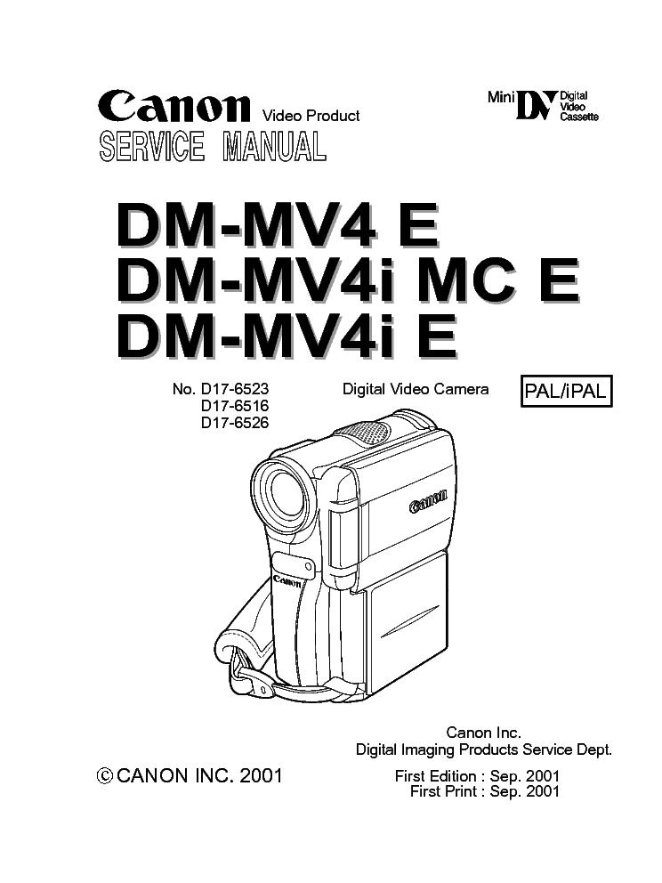 CANON DM-MV600I MV630I MV600 MV590 Service Manual free