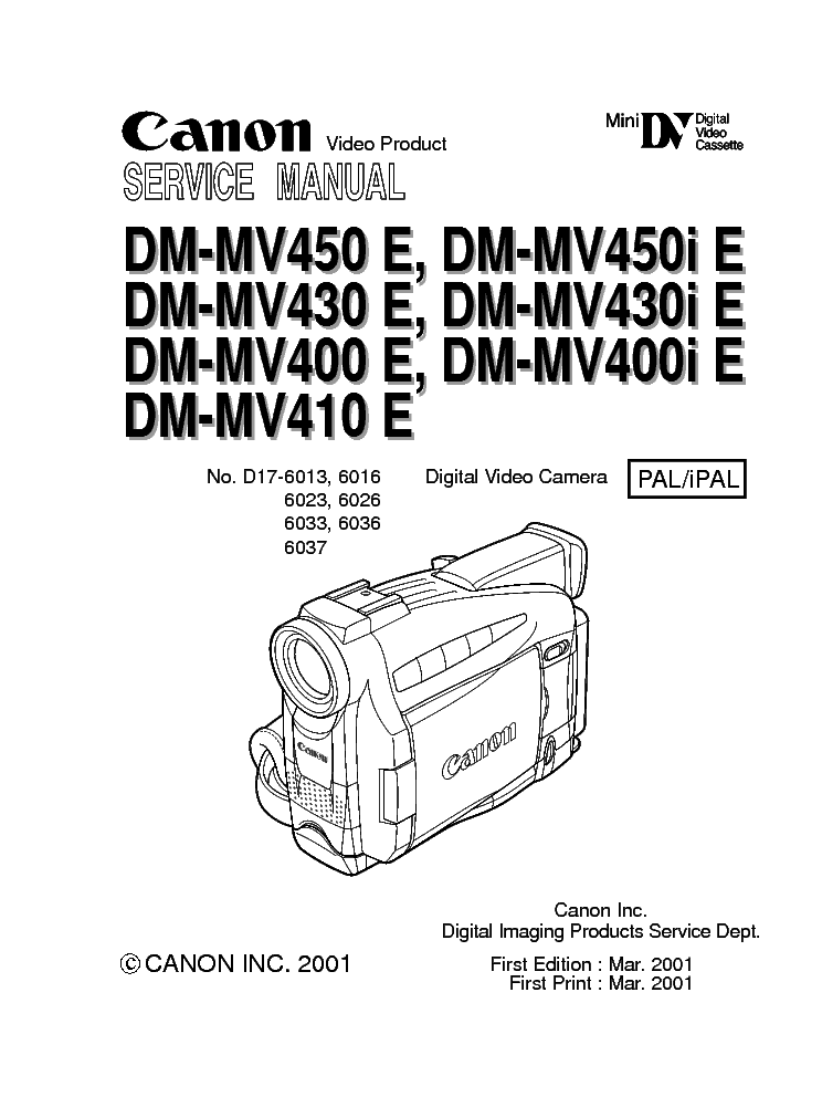 CANON MV450I MANUAL PDF