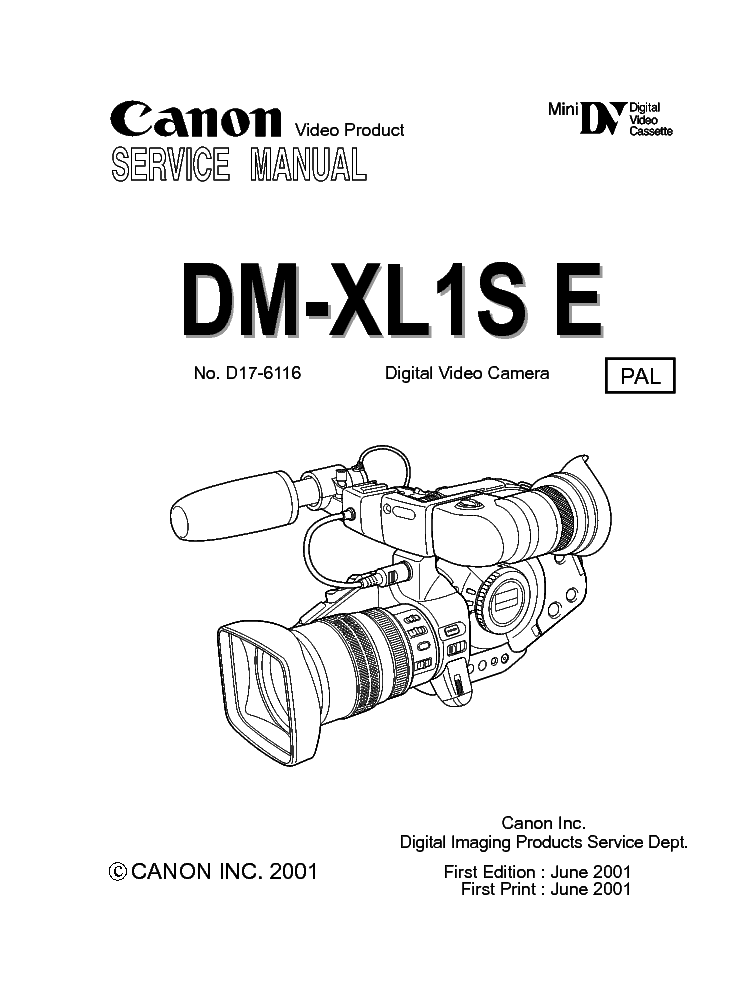 CANON DM-XL1S SERVMANUAL Service Manual download