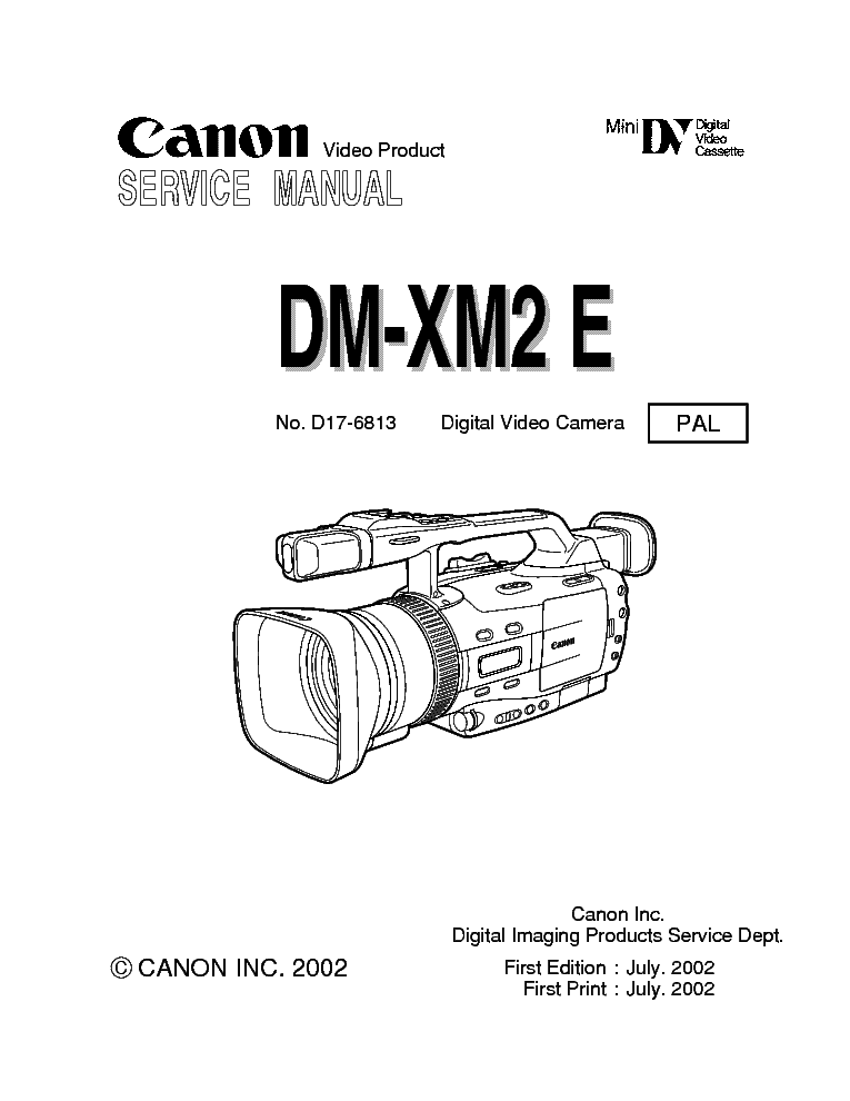 CANON DM XM2 MANUAL PDF