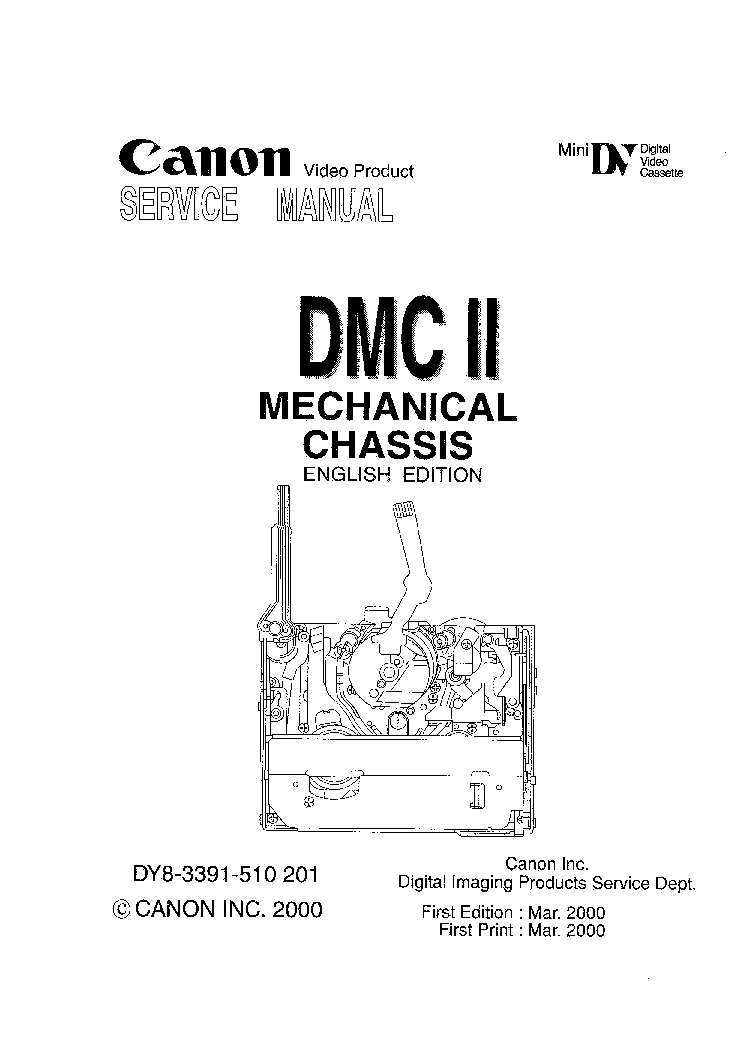 CANON DMC-IIMINI-DV-FOR Service Manual download