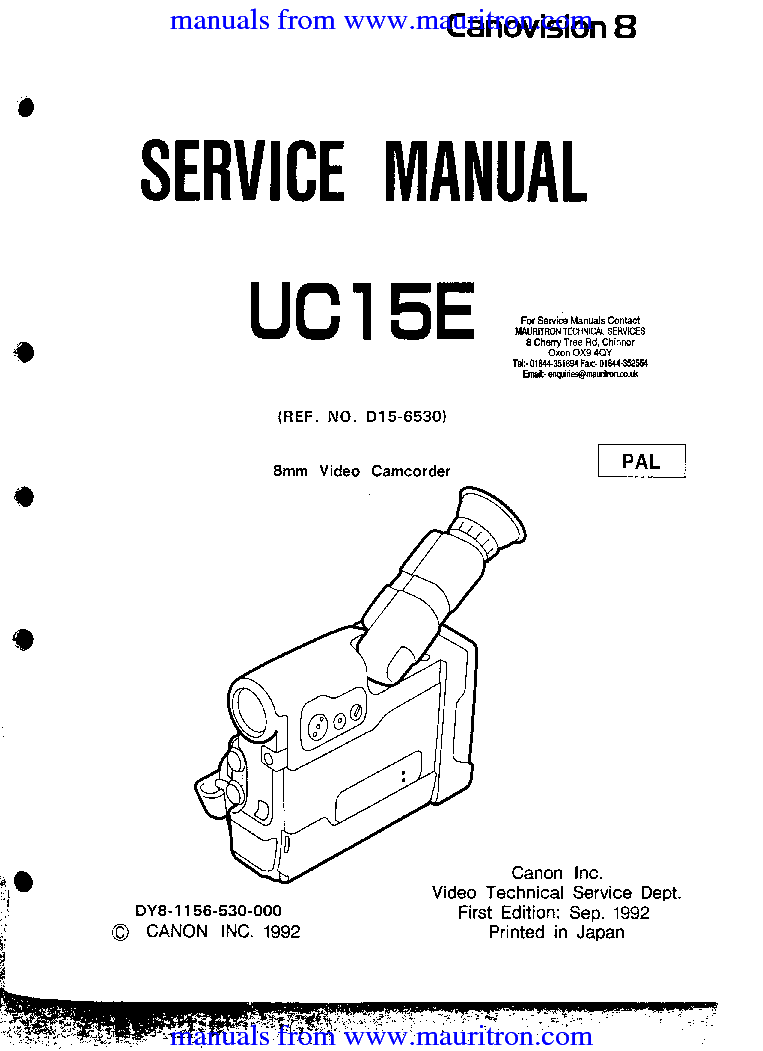 CANON MV-790 800 830 850 Service Manual download