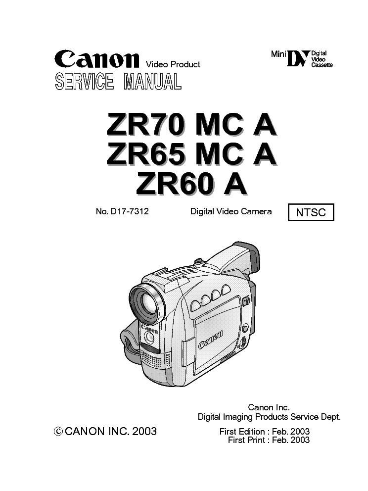 CANON DM-MV500 SM Service Manual download, schematics