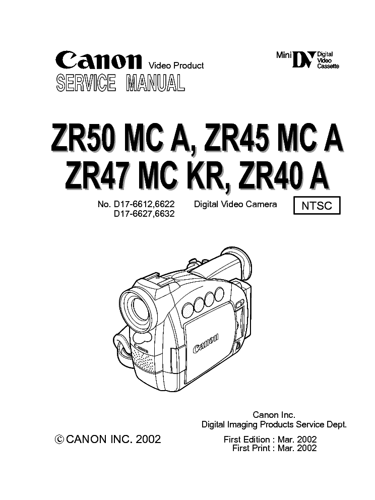CANON ZR40 MANUAL PDF