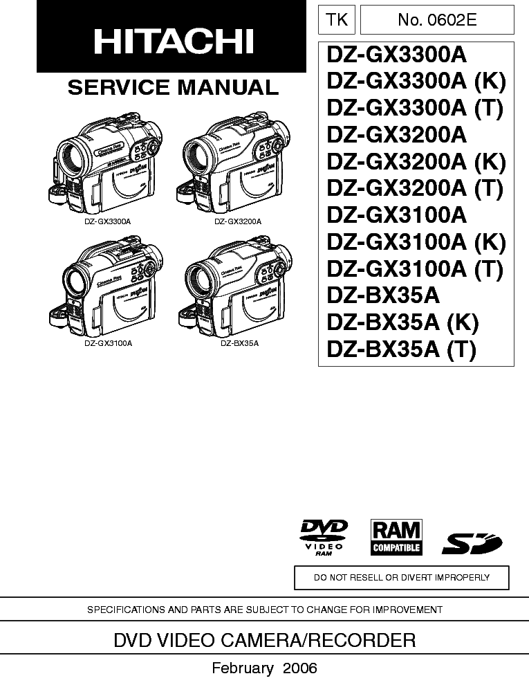 HITACHI BX35A MANUAL PDF