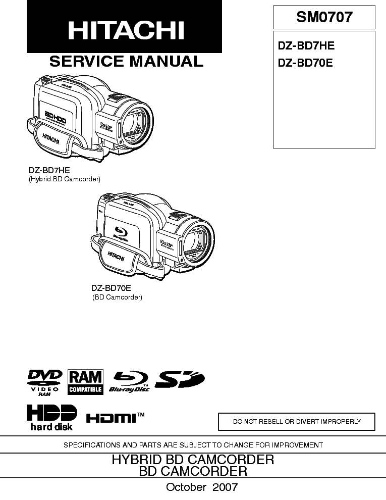 HITACHI VM-2500A Service Manual free download, schematics
