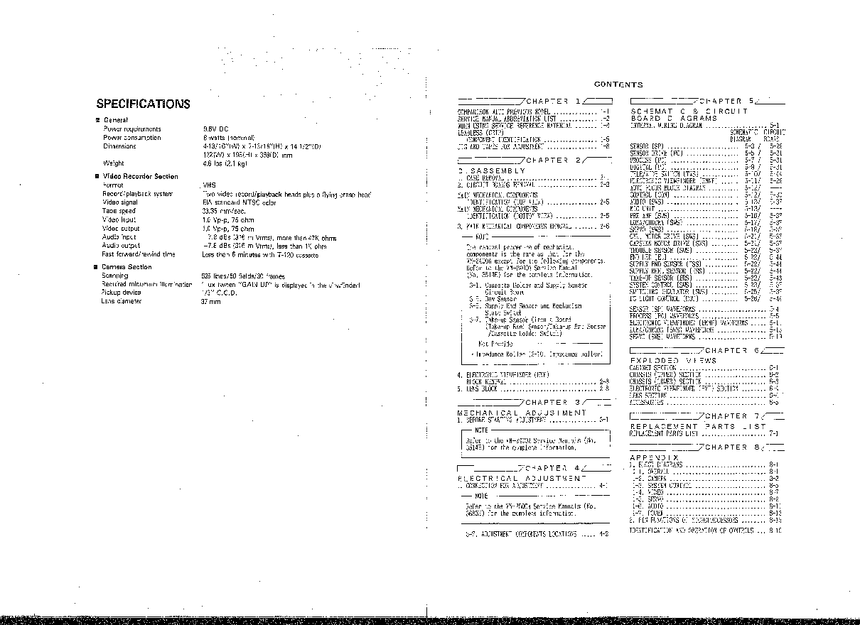 HITACHI VM-2600A-U-C SM Service Manual download