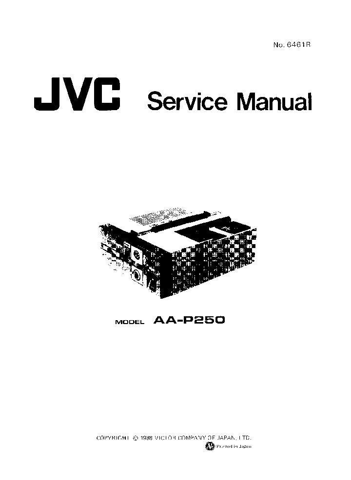 JVC AA-P250 Service Manual download, schematics, eeprom