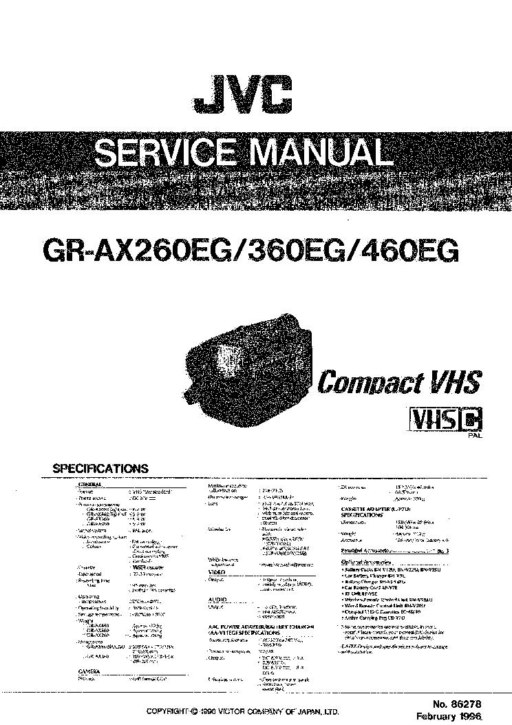 JVC GR-AX260EG AX360EG AX460EG SM 2 Service Manual