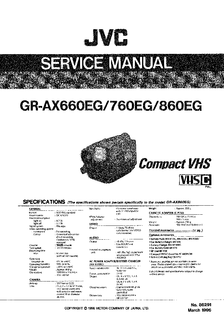 JVC GR AX2 AX5 Service Manual free download, schematics