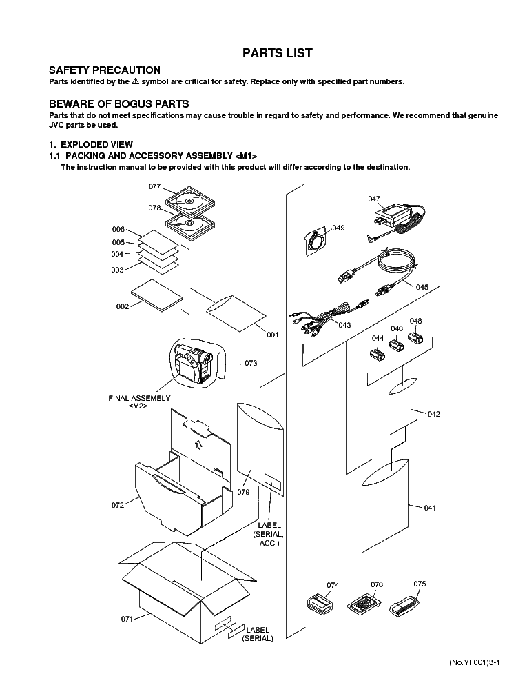 JVC GR-D720 Service Manual download, schematics, eeprom