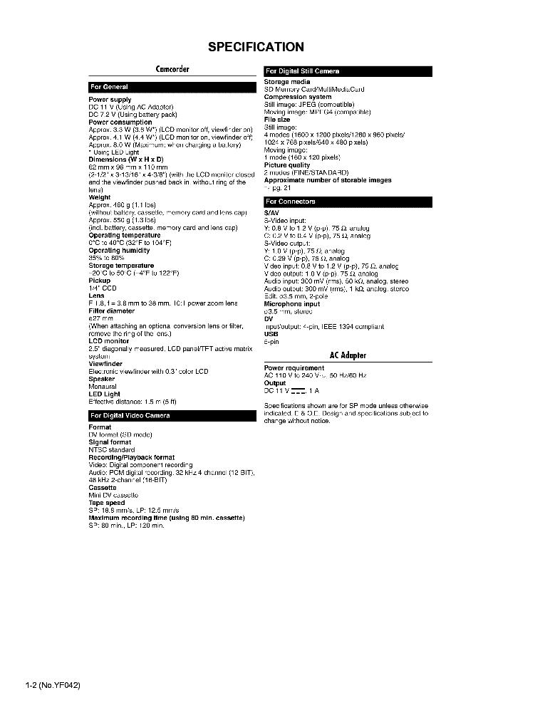 JVC GR-D230US D231US SM Service Manual download