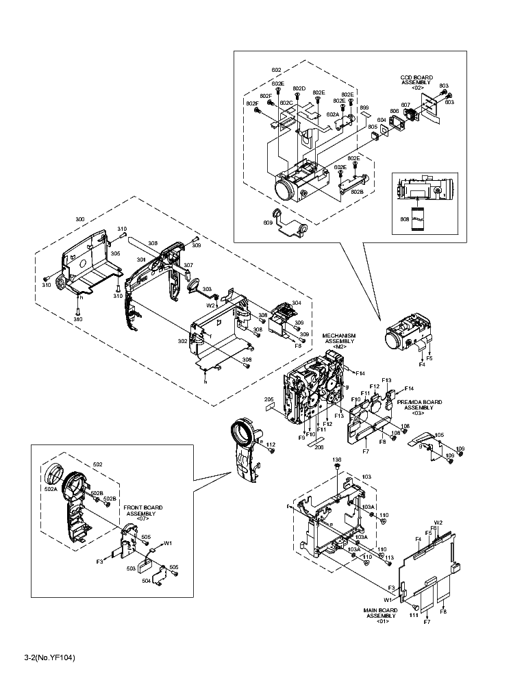 JVC GR-D239E PAR Service Manual download, schematics