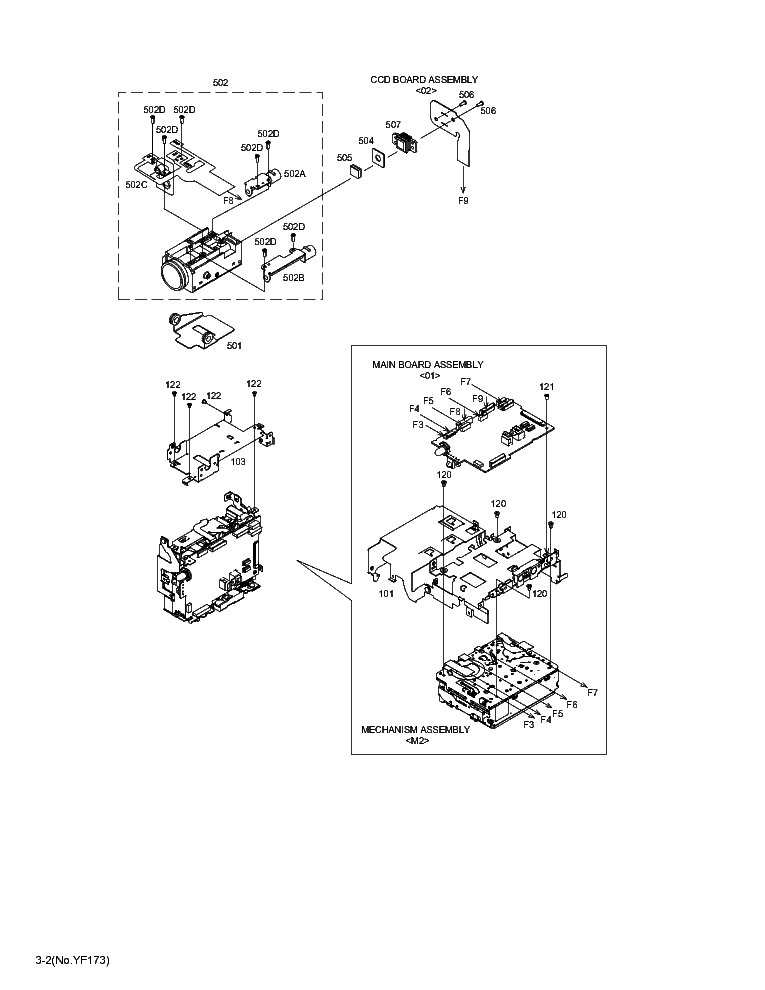 JVC GR-D750US MECHANISM PARTS Service Manual download