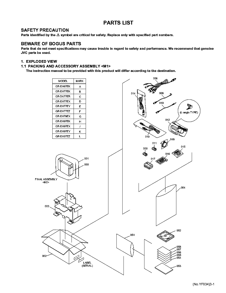 JVC GR-DV700 EK-EX-EY-EZ SM Service Manual free download